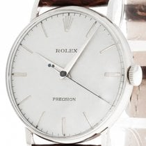 Rolex Precision Handaufzug Stahl an Lederband Ref.9829