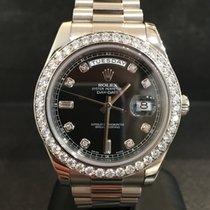 Rolex Day-Date II Ref. 218349 - Weissgold - Orig Besatz