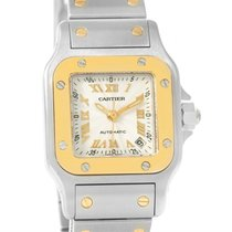 Cartier Santos Small Steel 18k Yellow Gold Automatic Watch...