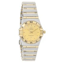 Omega Constellation Ladies 18K Gold Full Bar Swiss Quartz...