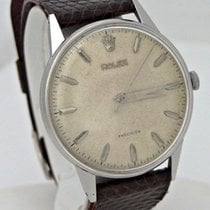 Rolex Mens Vintage Rolex Precision Stainless Steel Manual Wind...