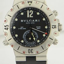 Bulgari Scuba GMT Chronograph Steel & Rubber Automatic...