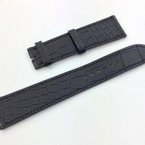 Hermès Paris Uhren Armband  Band Kroko Schwarz 20 / 17