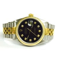 Rolex 16013 36mm Datejust 18k Yellow Gold Ss Two-tone