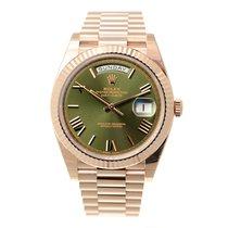 勞力士 (Rolex) Day-date 18k Rose Gold Green Automatic 228235GN