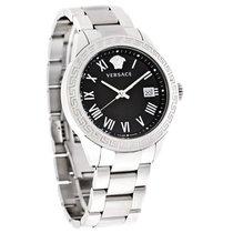 Versace Landmark Mens Black Dial Swiss Quartz Watch P6Q99GD008...