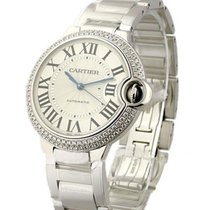 Cartier WE9006Z3 Ballon Bleu in White Gold with 2- Row Diamond...