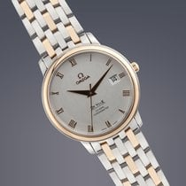 Omega DeVille Prestige Co-Axial steel&gold automatic Full Set