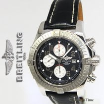 Breitling Super Avenger Chronograph Steel Black Dial Automatic...