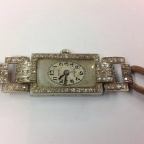 Rolex Vintage Art-Deco 18k white gold & Diamonds Ladies