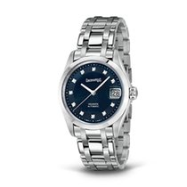 Eberhard & Co. Aquadate quadrante madreperla blu, cinturin...