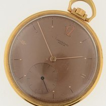 Universal Solid 18k Yellow Gold 47mm Mechanical Pocket Watch