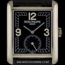 Patek Philippe 18k White Gold Black Dial Gondolo Gents B&P...