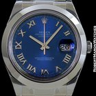 Rolex Datejust II Steel Blue Roman Dial New Box & Papers
