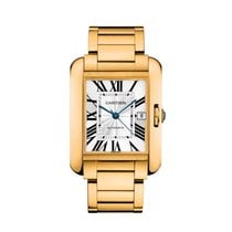 Cartier Tank Anglaise Large 18K Yellow Gold Watch