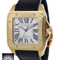 Cartier Santos 100 XL 18k Yellow Gold Mens Watch Box/Papers...