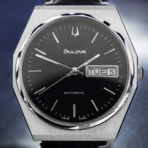 Bulova Stainless Steel Automatic Day/date Mens Dress Watch Dn149