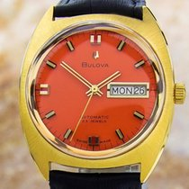 Bulova 1968 23 Jewels Gold Plated Automatic Mens Day/date Rare...