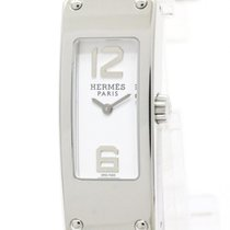 Hermès Polished Hermes Kelly Ll Double Tour Steel Quartz...