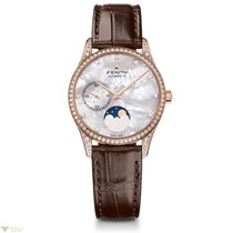 Zenith Elite Ultra Thin Moonphase Rose Gold with Diamonds MOP...