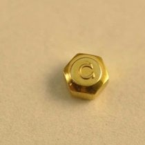 Omega Crown 3.0mm X 2.2mm Gold Plated Nos New Old Stock