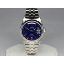 Tudor Prince Date + Day Steel Blue Polished Bezel 76200 36mm
