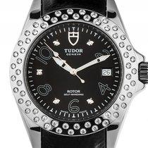 Tudor Prince Date Stahl Diamond Automatik Armband Leder 40mm...