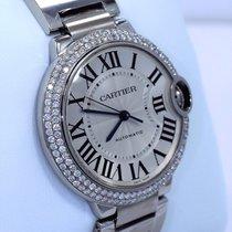 Cartier Ballon Bleu W69011z4 36mm Midsize 1.65ct Diamond Bezel...