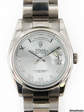 Rolex 18k white gold Gents Day-Date President