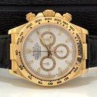 Rolex Daytona Ouro Amarelo / Couro White Dial Completo