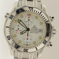 Omega Seamaster Chronograph Chronometer Date With White Dial...