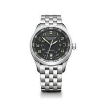 Victorinox Swiss Army Airboss grey dial, steel bracelet, date,...
