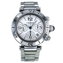 Cartier Pasha Seatimer Steel Automatic Silver Dial Men's...