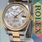 Rolex Datejust 18k Yellow Gold/Steel MOP Diamond Dial Ladies...