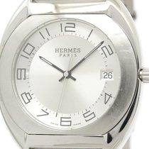 Hermès Polished Hermes Espace Steel Quartz Mens Watch Es2.710...