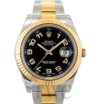 Rolex Datejust II Black/18k gold Ø41 mm - 116333