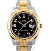 Rolex Datejust II Black/18k gold Ø41 mm - 116333