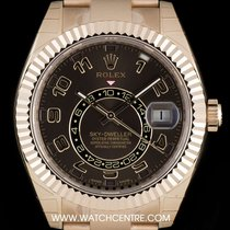Rolex 18k Rose Gold Unworn Chocolate  Dial Sky-Dweller B&P...