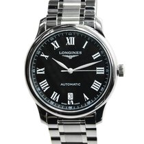 Longines Master Stainless Steel Black Automatic L2.628.4.51.6