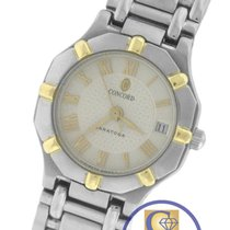 Concord Saratoga 18K Yellow Gold Stainless Quartz 24mm Watch