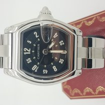 Cartier Roadster 2510 Black     Stainless Steel  38mm Mechanic...