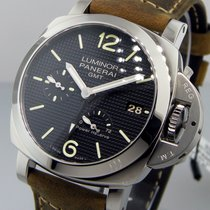 Panerai Unworn  Pam 537 Acciaio 42 Mm Luminor Gmt 3 Days Power...