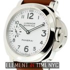 Panerai Luminor Collection Stainless Steel White Arabic Dial...