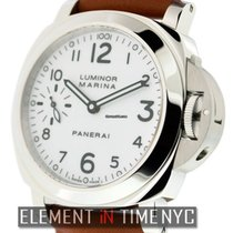 Panerai Luminor Collection Stainless Steel White Arabic Dial 44mm