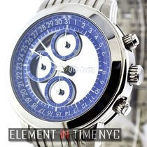 Quinting Mysterious Quinting Chronograph Blue Dial With Bracelet