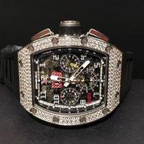 Richard Mille [NEW] RM 011 White Gold Diamond (Retail:USD$205,...