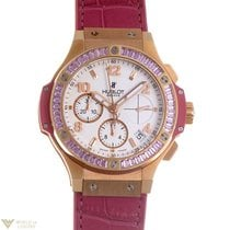 Hublot Big Bang Gold Tutti Frutti 18K Rose Gold Pink Leather...
