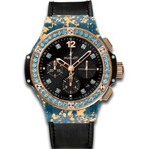 Hublot Big Bang Gold Linen Blue Gold
