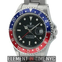 Rolex GMT-Master II Stainless Steel Pepsi Red/Blue Bezel A...