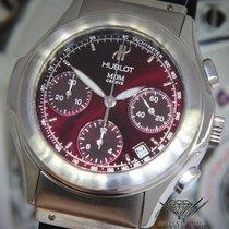 Hublot MDM Chronograph Stainless Steel Burgundy Strap 40mm...